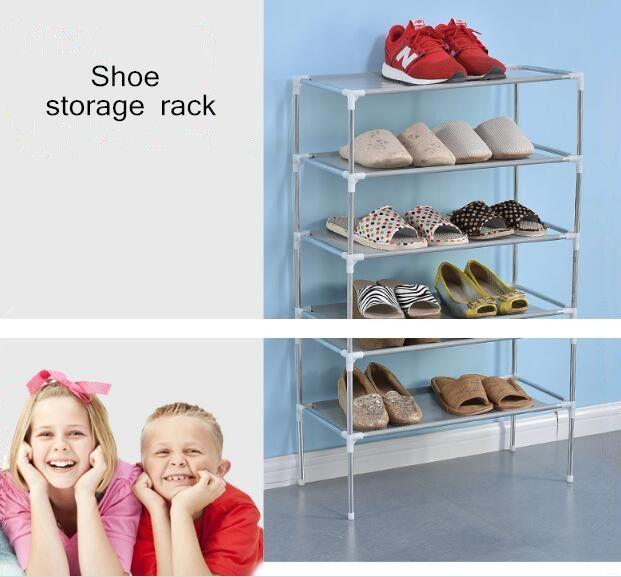 DIY non-woven fabrics Shoe Storage Cabinet Shelf Multi-layer Combination Furniture Storage Organizor Removable Door Shoe display Shelf