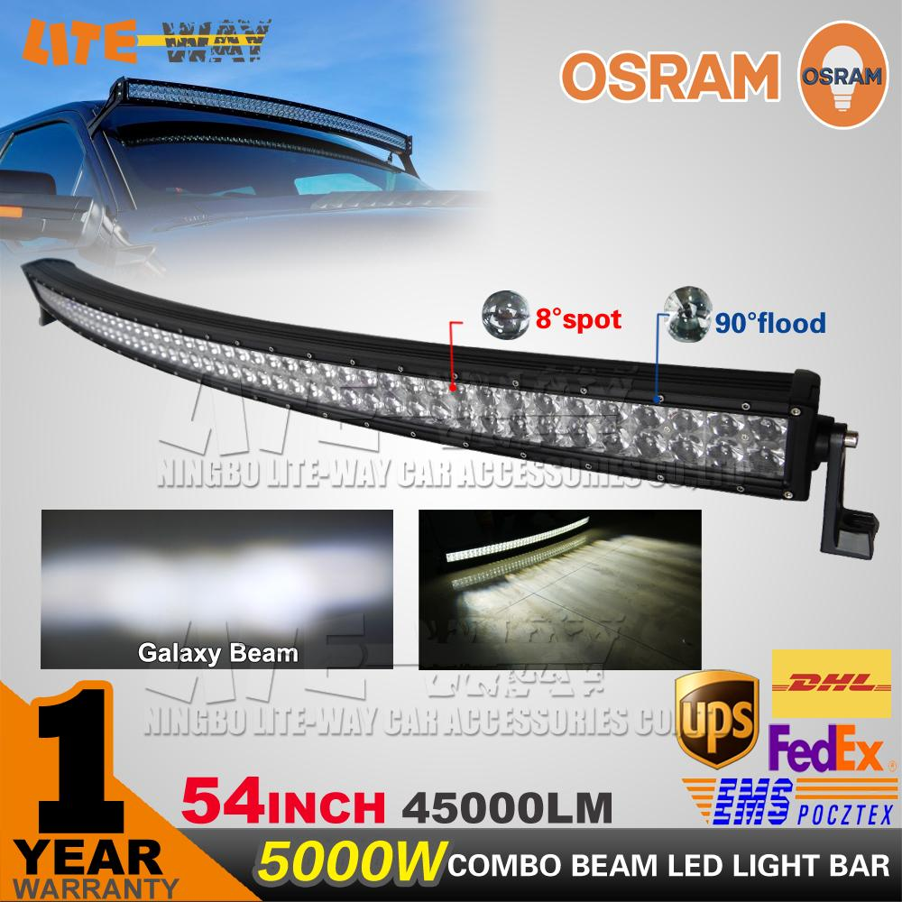 54 inch 500w osram curved led work light bar led offroad light 4x4 54 inch 500w osram curved led work light bar led offroad light 4x4 utv 4wd suv truck car offroad driving lamp led portable work light led portable work aloadofball Choice Image