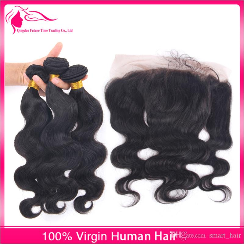 Hot 13x4 Lace Frontal With Hair Bundles Ear To Ear Full Lace Frontals With Hair Weaves Cheap Price