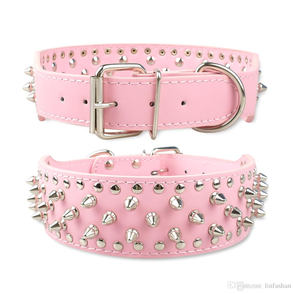 Pink Dog Collars With Flowers