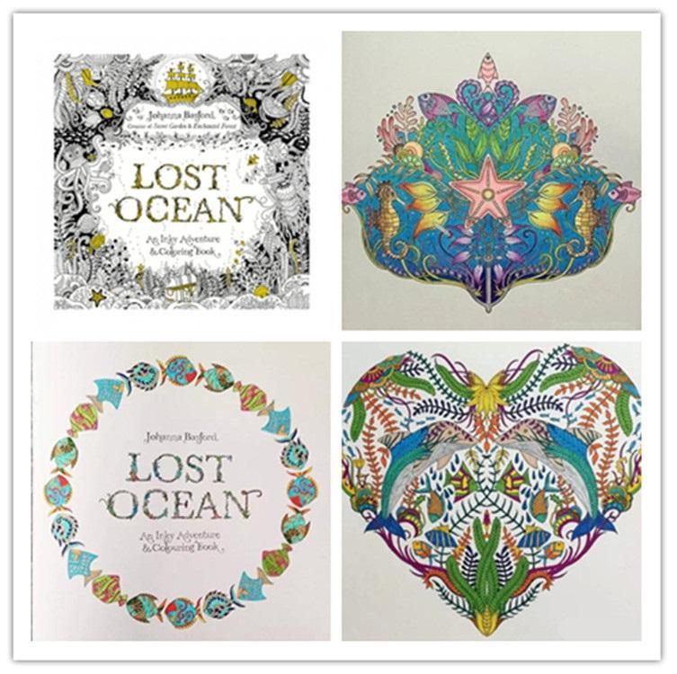Großhandel Verlorener Ozean Färbung Buch 2015 Färbung Buch Hohe ...