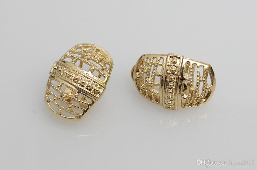 Envío gratis 18k oro lleno de Dubai africano blanco collar de cristal austriaco pendiente del anillo de la boda / novia conjunto de joyas