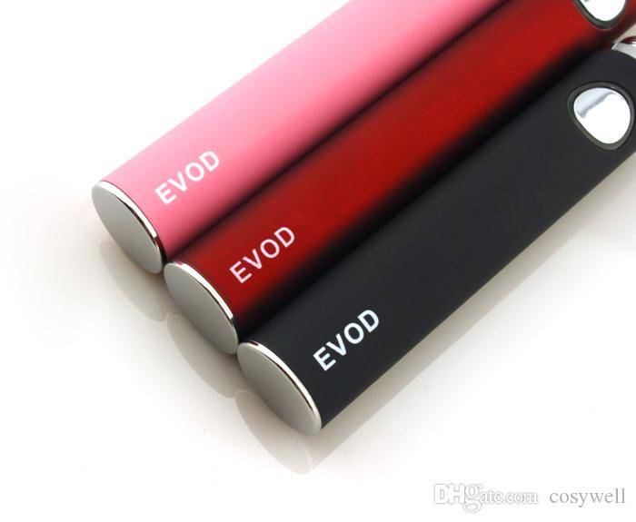 EVOD E-Cigarette 650mAh 900mAh 1100mAh Rechargeable Battery Compatible with EGO and 510 atomizers/cartomizers/clearomizers Assorted Color