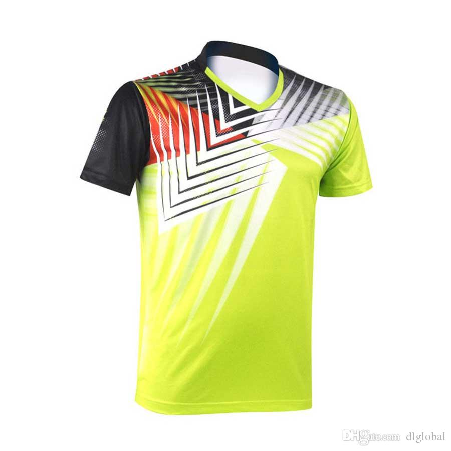 7b16541c65f400 Fashion Men Quick-drying V-neck Short Sleeve T-shirt Badminton Clothing  Jerseys Men Shirt Jerseys Sport Outdoor Online with  38.82 Piece on  Dlglobal s Store ...