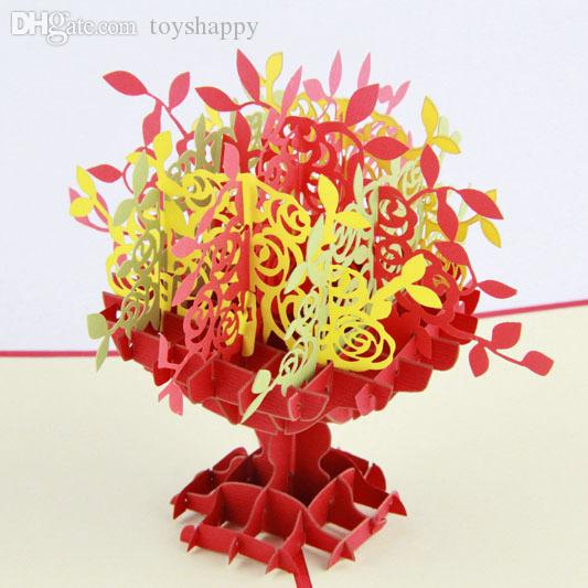 Wholesale 3d flower vase pop up greeting card handmade gift wholesale 3d flower vase pop up greeting card handmade gift restaurants gift cards gift cards buy online from toyshappy 3293 dhgate m4hsunfo