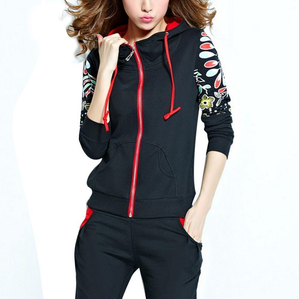 2019 2016 New Autumn Winter Set Women Tracksuit Sportwear Floral Printed  Fleece Thick Womens Tracksuit Set Sport Suit From Jack16999 04984a6410