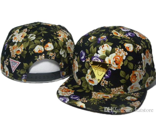 e74922eb97b 100 Styles Brand New HATER Rose Floral Snapback Baseball Caps Cheap Fashion Hip  Hop MEN WOMEN Designer Hats Top DDMY Snapback Hater Snapback Caps Online ...
