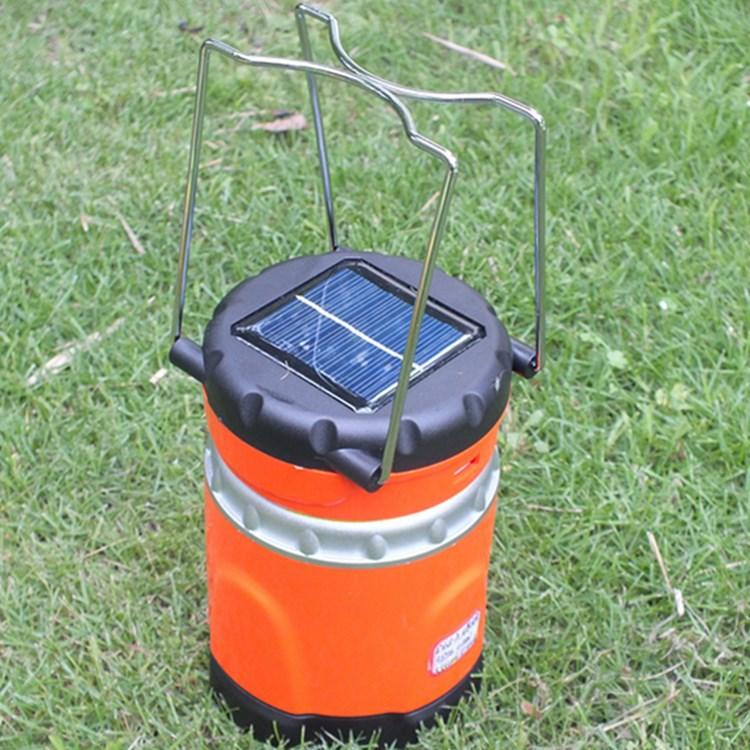Lampada da campeggio a LED solare ricaricabile con uscita USB telefono, lampada a lanterna portatile a LED UltraBright 11 con illuminazione esterna