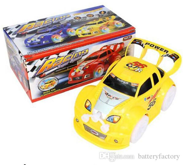 LED Car Toys LED Lighted Toys Cute Cars Different Color Kids Christmas Gift Race Car Model Lighting Play Music Funny Kids Playing Safety Toy
