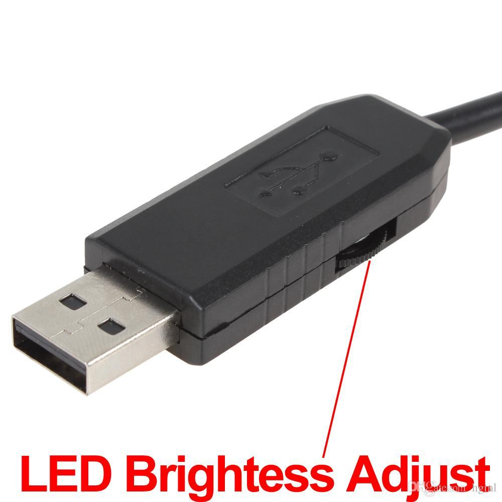 20m Waterproof Mini USB Endoscope Inspection Camera 6 White LEDs 1/9 CMOS 9mm Lens Mini Borescope Snake Tube Camera with P2P HLV_012