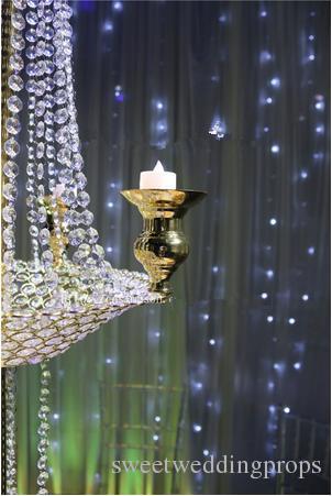 Toptan Şamdan Çiçek Standı Düğün Masa Dekorasyon için Düğün Centerpieces