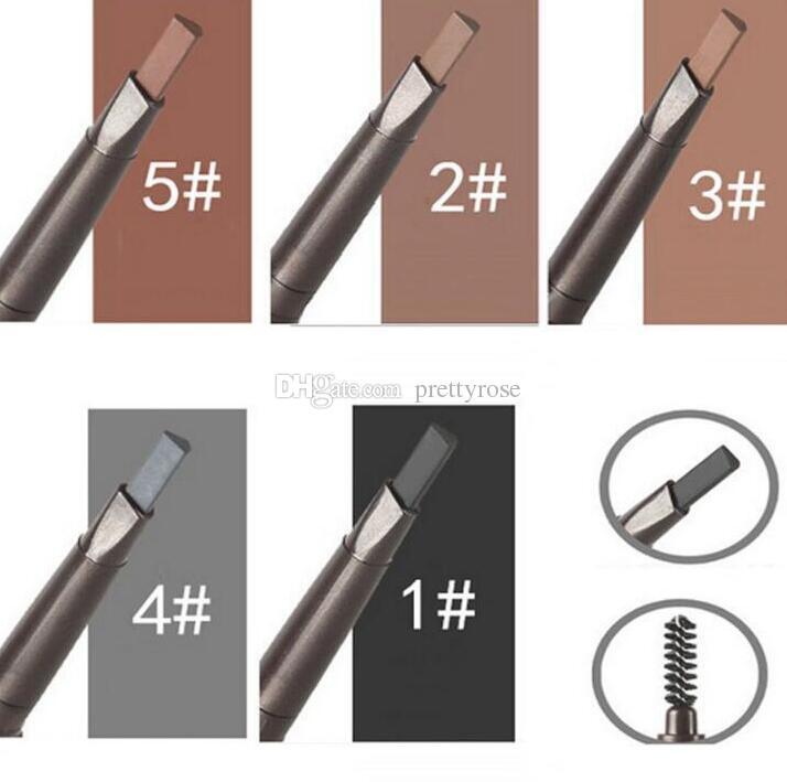 Promozione Double Headed Automatic Rotary Sopracciglio Matita Enhancer sopracciglio impermeabile Due estremità con Shaping Brush Makeup Beauty Tool i