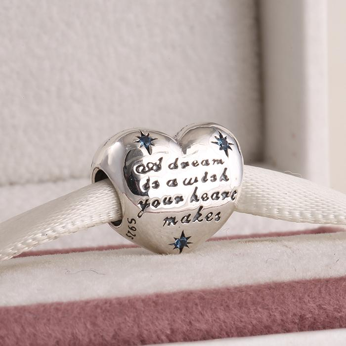 Suitable for pandora style bracelets spring 2015 new cinderella heart charms with cz 925 sterling silver jewelry