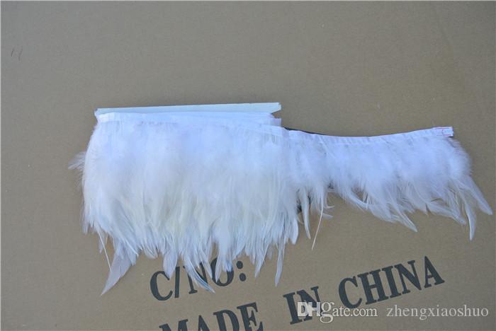 شحن مجاني 10 ياردة اللون الأبيض الممشقة ريشة التشذيب هامش الممشقة ريشة تقليم للحرف / زي / الخياطة