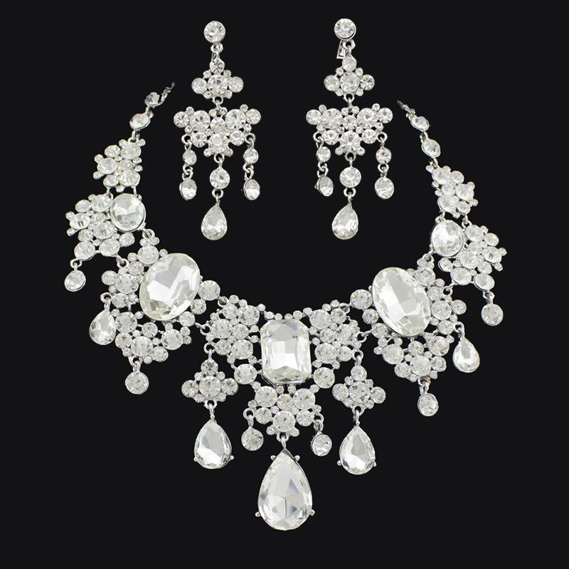 ec5b85839 2019 2015 New Bridal Wedding Party Jewelry Sets Rhinestone Earring Necklace  Swarovski Crystal From Topdresses, $19.75 | DHgate.Com