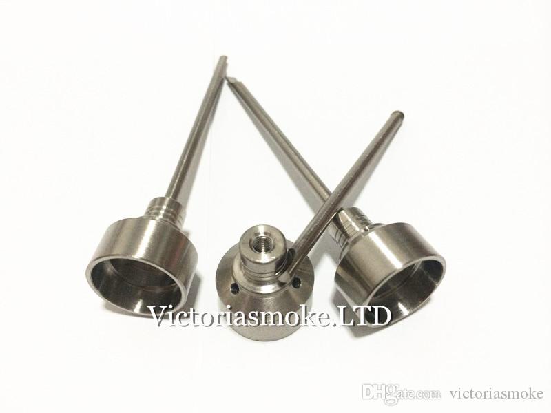 Tapa de carburo de titanio y titanio con salpicadura de titanio en la parte superior con tres orificios en ángulo para 10 mm 14 mm 18 mm