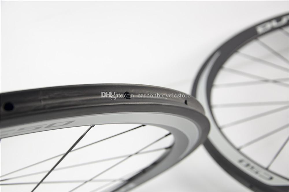 2020 C50 WheelSet 50mm CLINCHER TUBULAIRE C35 C75 Roues de vélo en fibre de carbone complète Racing Racing Roues de carbone FFWD