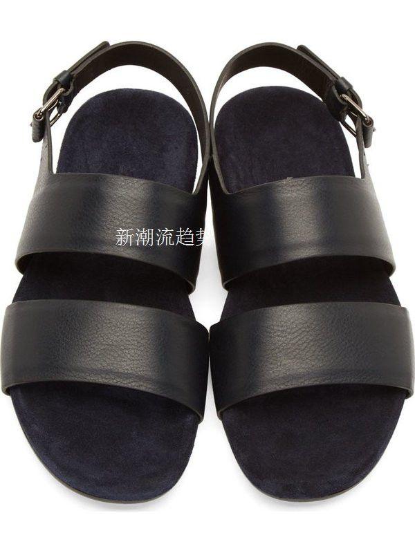 New Arrival Genuine Leather Kroean Style Mens Sandals Flat Male Shoes Soft Dress Summer Sandals Buckle Black Brown Man Shoes