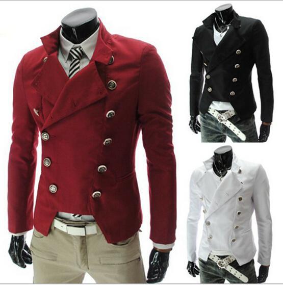 Nieuwe stijlen Mode Double Breasted Metrosexual Man's Pak Jacket Jas Overjas 3 Kleur Maat M-2XL X311