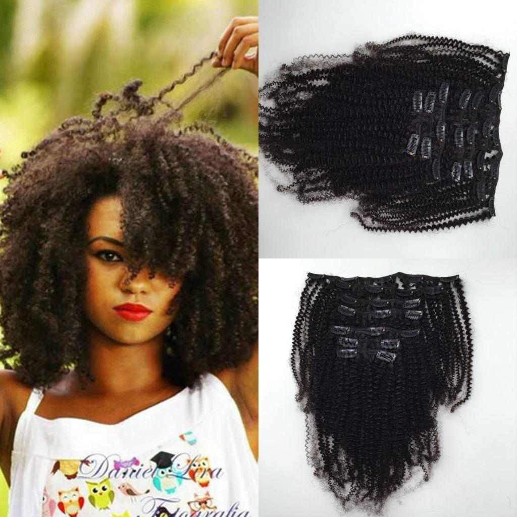Clips In Afro Kinky Curly Hair Extensionswholesale Price