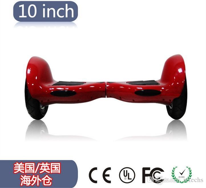 크롬 스쿠터 LED RGB 전기 호버 보드 자기 균형 스쿠터 10 인치 삼성 배터리 4.4A 견인 휠 전기 스쿠터 공압 - 타이어