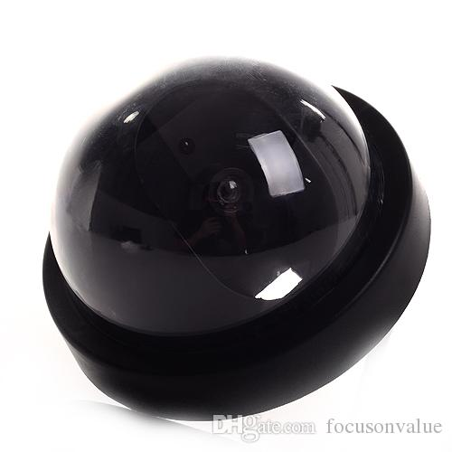 Dummy Fake Dome Camera Dummy Mock indoor CCTV Security camera with Red LED in retail box