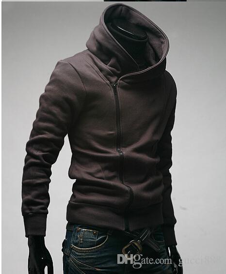 2015 الساخن موندي كوريا إلى shool منحرف سستة الرجال هوديي الرجال سترة الرجال معطف 4 ألوان أسود زائد حجم رجل معاطف