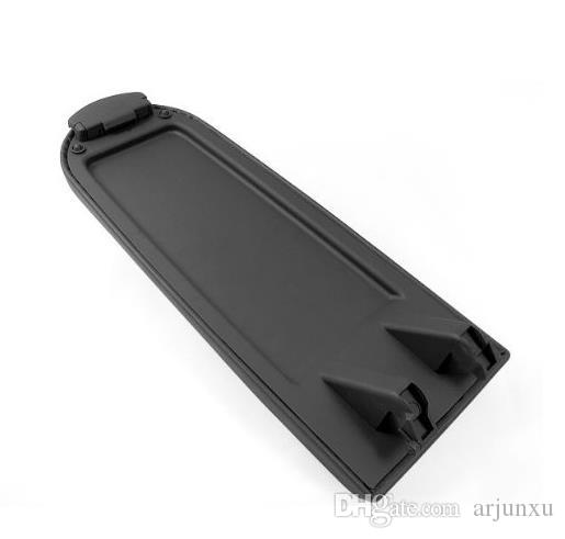 New High Quality Blk Leather Center Console Armrest Covers Caps w/ Latch Lip On Sale for Volkswagen golf 4 MK4 99-04