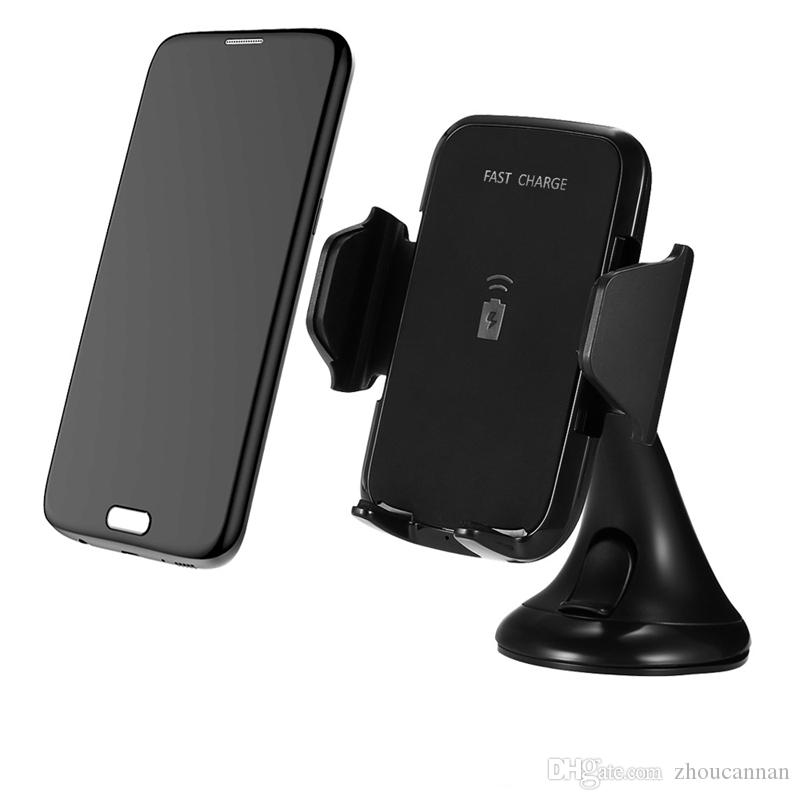 Multi Function QI Wireless Charger Phone Mount Holder Fast Charing Pad Car Charger for Samsung s8 s8 Plus iPhone x