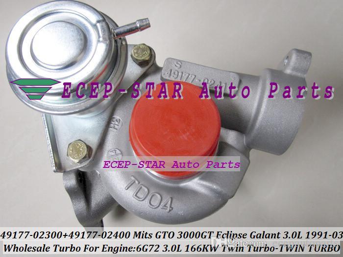 TWin Turbo 2 Stück TD04 49177-02300 49177-02400 Turbolader für MITSUBISHI GTO 3000GT Eclipse Galant Ausweichen Stealth 1991-03 6G72 V6 3.0L 166KW