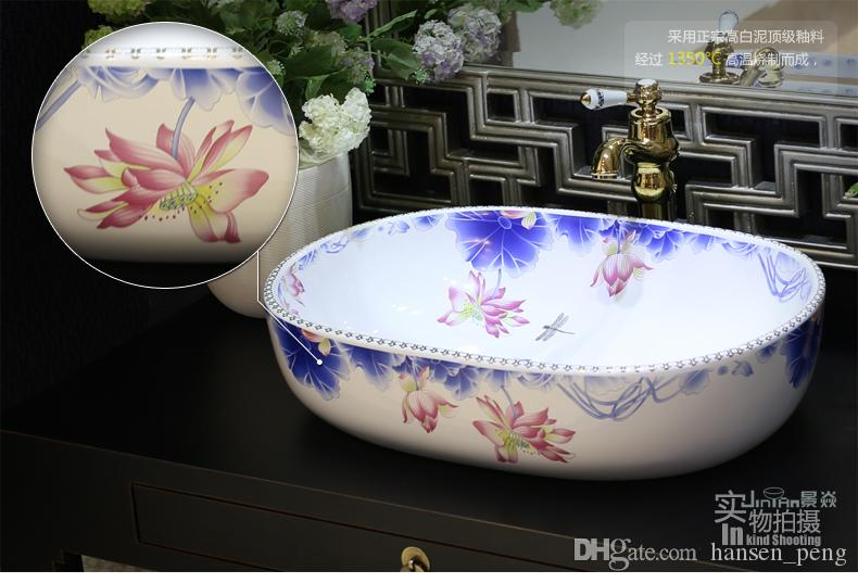 Hand Painted Sinks For The Bathroom Home Design