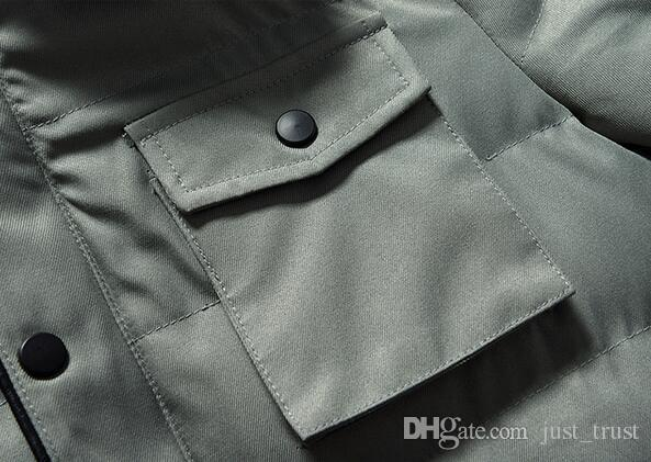 plus size M ~3XL Sales Seoul Stylish warm winter cotton down jacket Punk boy Stand collar zipper Parkas puff jacket