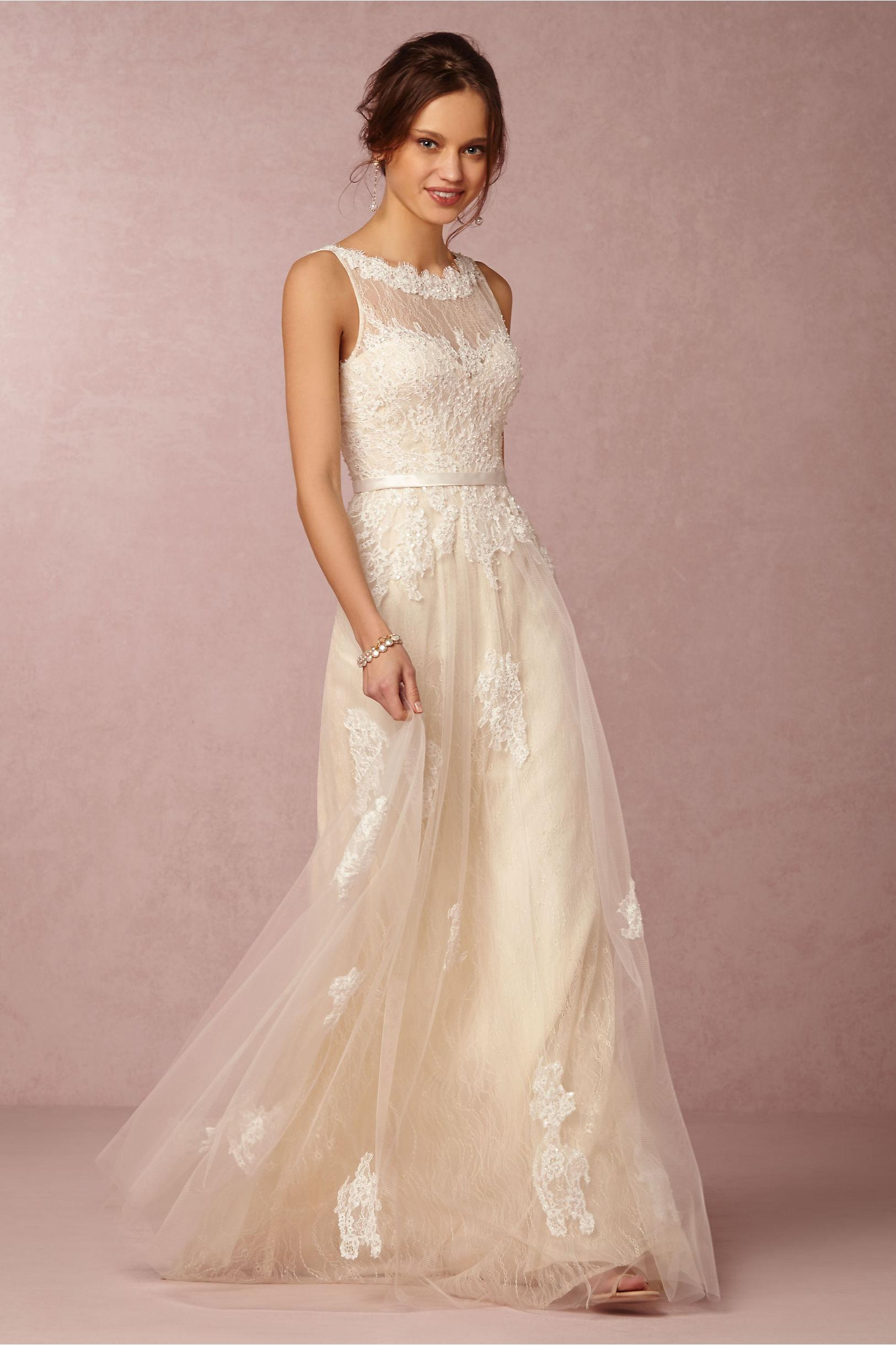 discount bhldn 2016 ivory wedding dresses high neck sleeveless