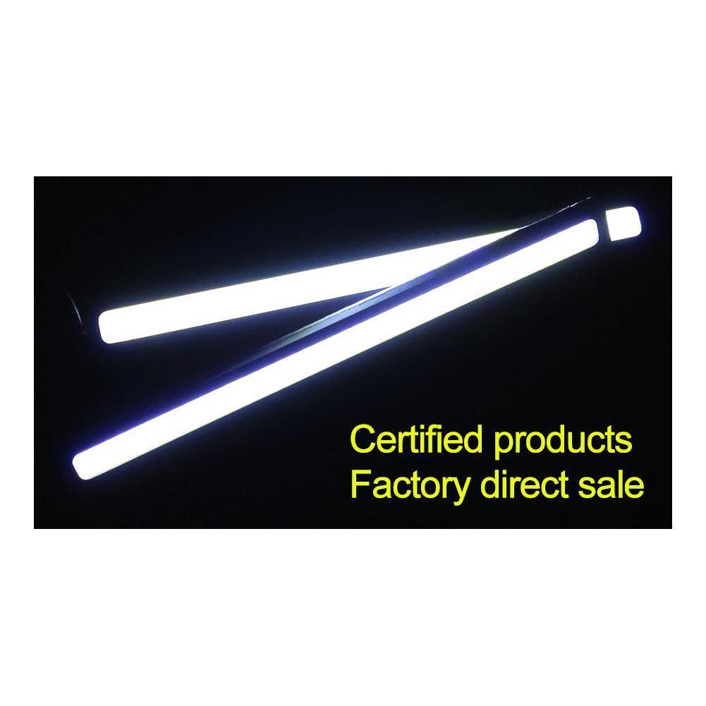Luzes de Circulação Diurna do carro LED DRL Universal COB 84 Chips de 9 W 12 V 17 CM poder Branco Azul Vermelho Car Auto Condução Ultra-fino Lâmpada de luz de Nevoeiro