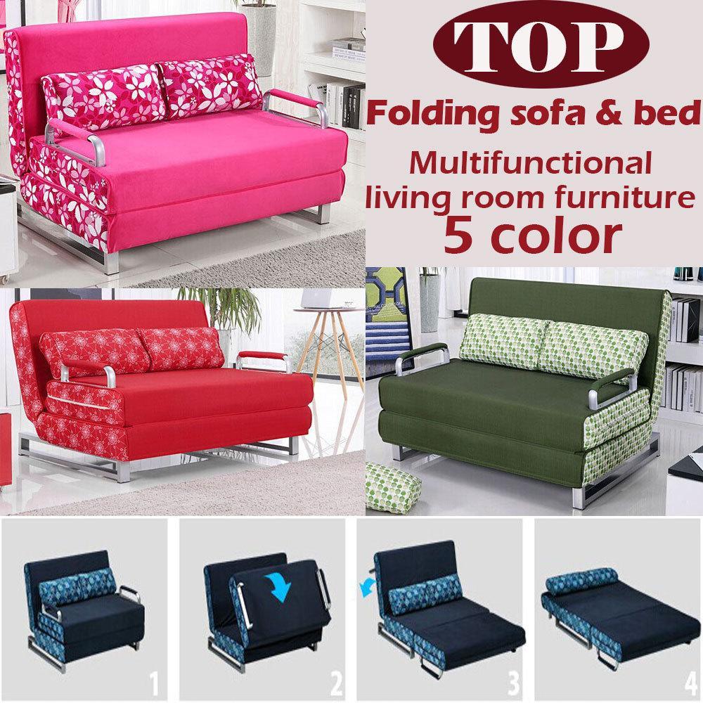2017 100% Cotton Sofa Bed High Resilience Foam Sponge Sofa Folding