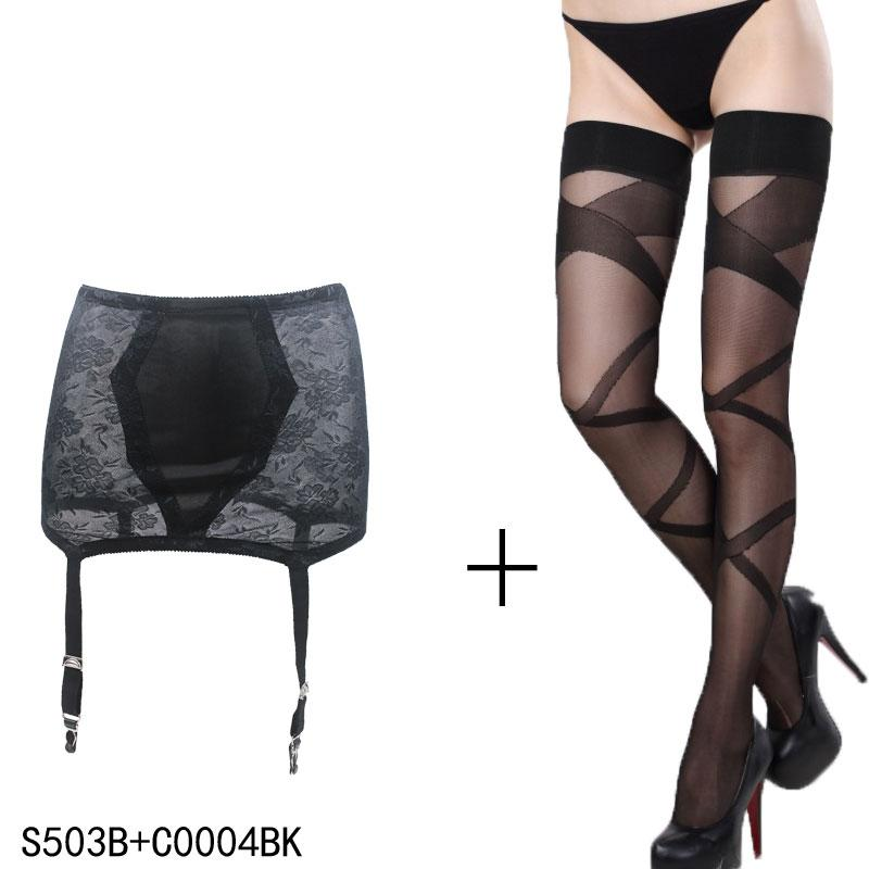 fd31ba75c5b Sexy Garters Stocking Black Vintage Sexy Metal Clips Buckles Garter Belt  with Stockings set for women female lady Sexy Lingerie