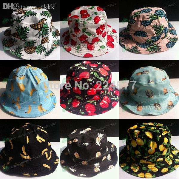Wholesale New Lovely Banana Fruit Bucket Hats Printed Sun Hat For Women  Outdoor Sunbonnet Chapeau Touca Designer Fisherman Cap Casquette Straw  Cowboy Hats ... ec5ccc31c74