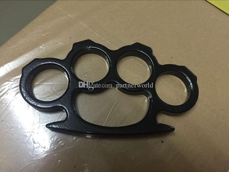 Polveri a mano in ottone acciaio nero e nero sottile, pendente autodifesa la difesa personale delle donne e degli uomini di autodifesa
