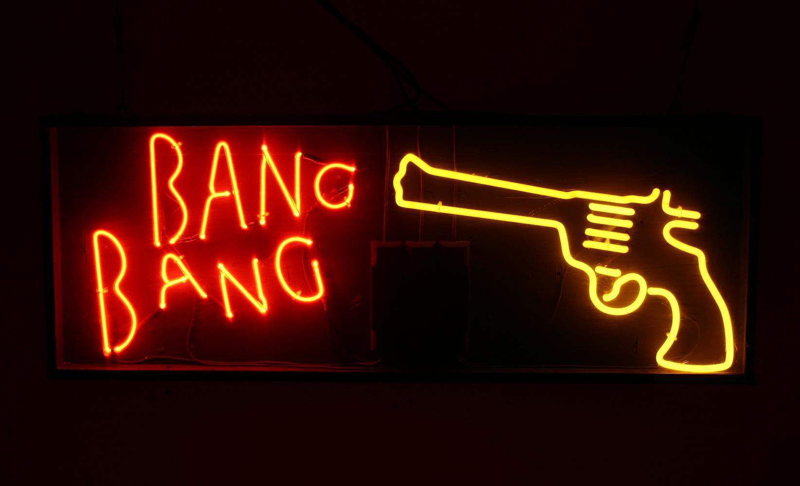 Neon Wall Signs 2017 bang gun neon sign real glass tube bar customer light beer