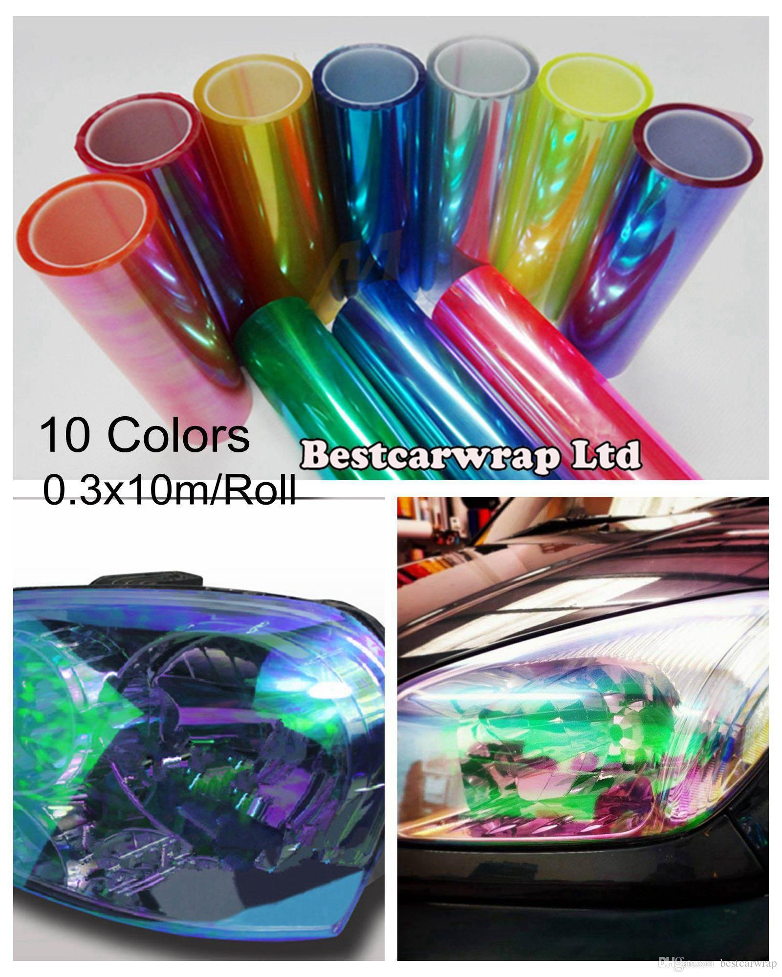 0 3x10m Roll Chameleon Headlight Tinting Film For Headlamp Tint