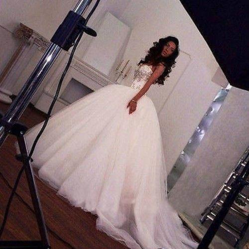 Abiti da sposa abito da sposa stile romantico 2019 Sweetheart Bording Tulle Swseeeeeeee Seep Treno Abiti da sposa di lusso Lace Up Back Supbita