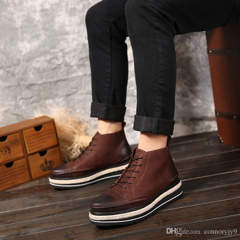 3feabc17d6ef New 2016 Style Leather Martin Boots Martin Shoes Men Women Brand Marten Dr  Designer Motorcycle Boots Size7 12 Heels Boot From Connoryjy9