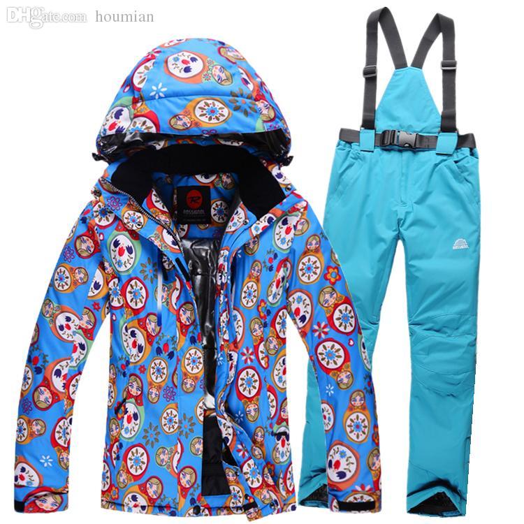 e49b271eabd0 Wholesale-ROSSIGNOL Womens Snow Suits Thicken Winter Ladies Ski ...