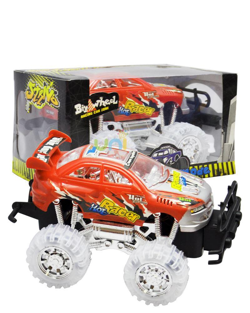 2015 hot sale music light up flashing car toy big wheel racing car toy for children kids toys pull back cars three flash model