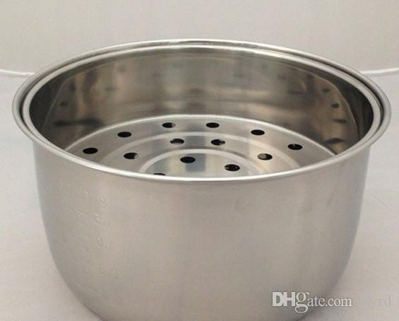 3l stainless steel non stick inner pot steam basket steam tray pan steam basket kitchen appliance parts 2pcsset - Non Stainless Steel Appliances