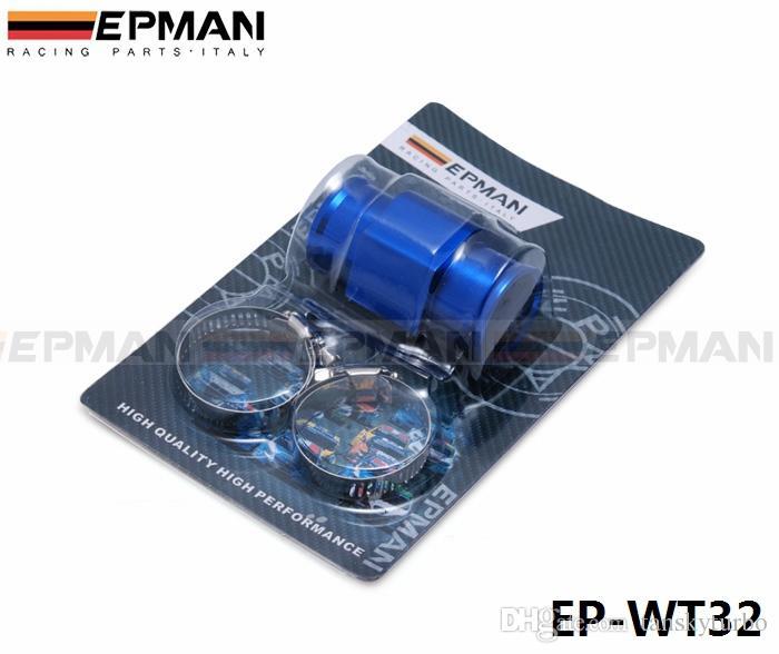 EPMAN - JDM Corrida 32MM Blue Water Temperatura do refrigerante Temp Água Sensor Medidor Adaptador 1,25