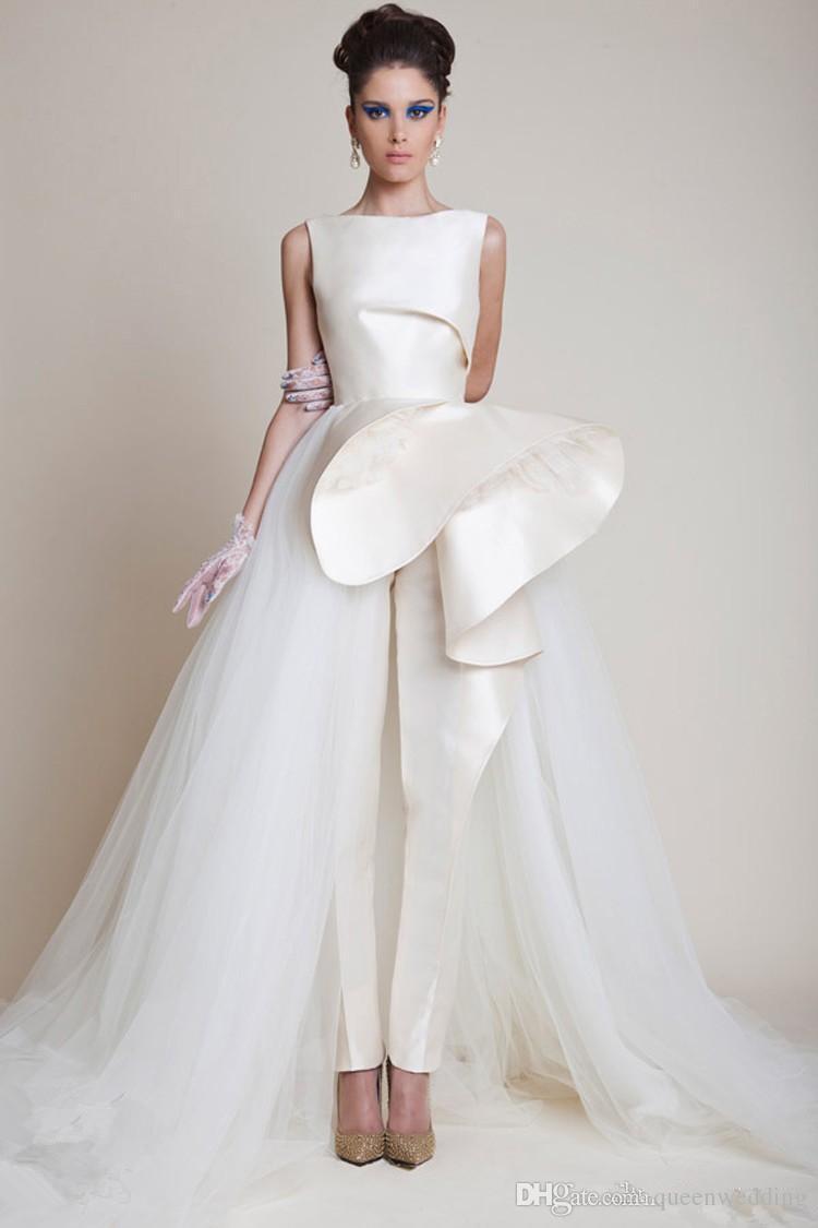 2014 New Fashion White Evening Dresses Jewel Neckline Sleeveless ...