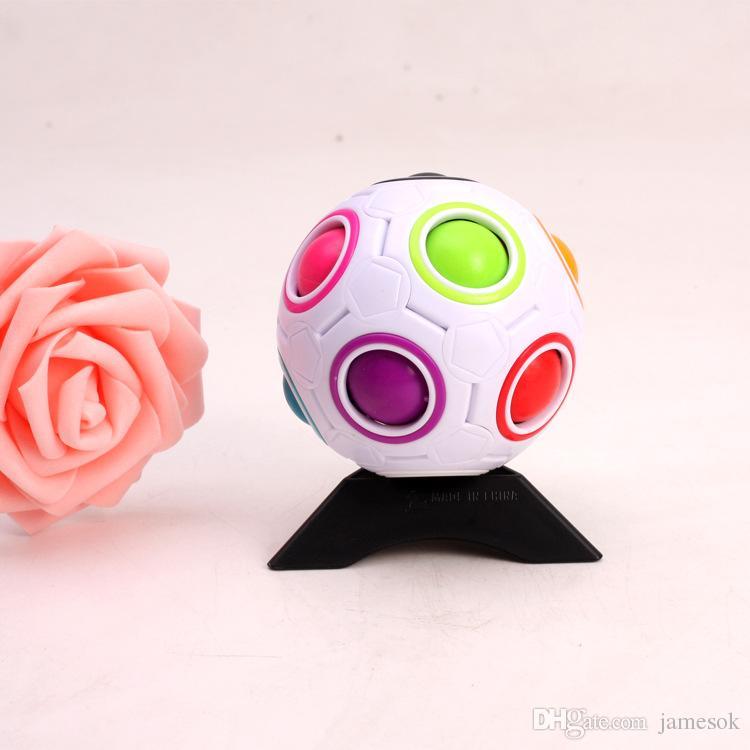 Spherical Magic Cube Speed Rainbow Bola de Futebol Futebol Divertido Criativo Crianças Educacional Aprendizagem Brinquedos Para Crianças Presentes Adultos To330