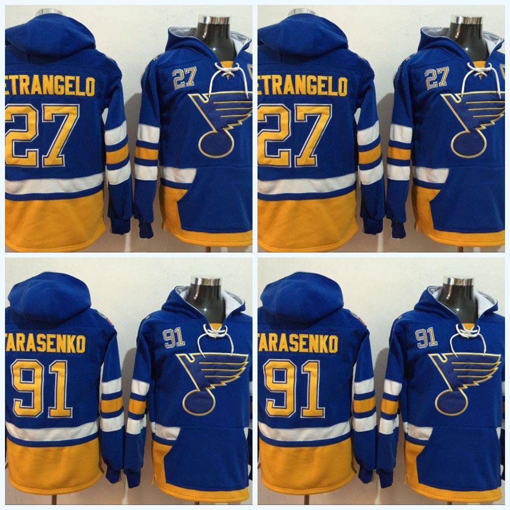 271afc4f777 Hot Sale St. Louis Blues Jersey #91 Vladimir Tarasenko #27 Alex Pietrangelo  Men's Hoodie Sweater Hockey Jersey Free Shipping