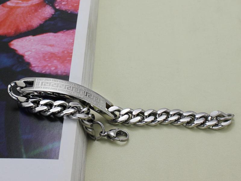 Mode Charm Armband Bangles för män Rostfritt stål Smycken Gratis China Air Express